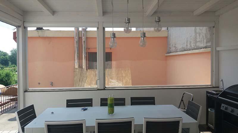 zanzariere per veranda a milano - interni