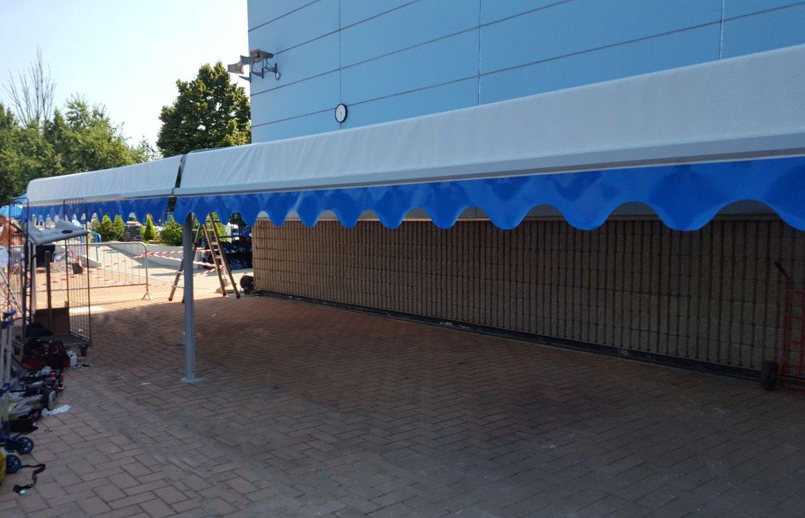 Capanno per piscina di Lacchiarella (Milano) - Capanno con tende per piscina