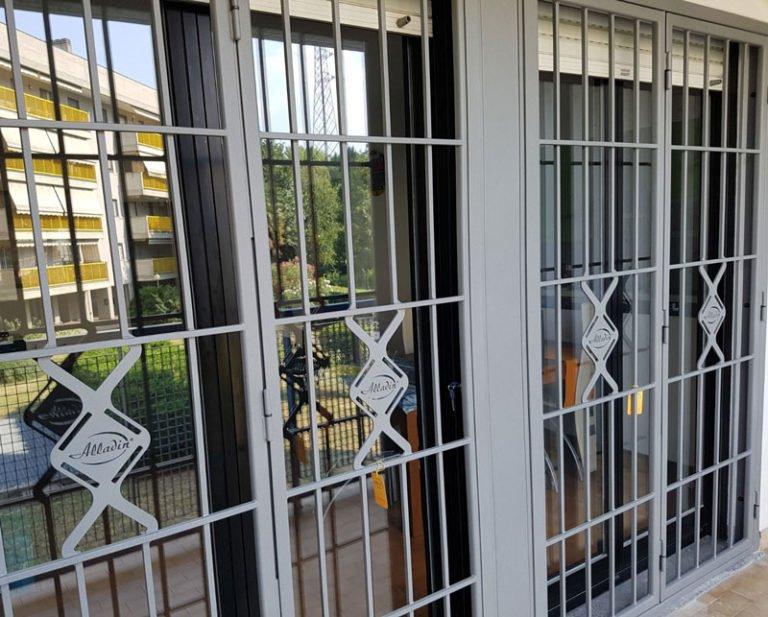 Installazione di grate di sicurezza per finestre e porta-finestre a Milano - grate di sicurezza alladin