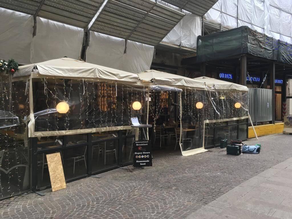 """Coperture per ristorante - bistrot """"Pandino"""" - Milano - 2"""